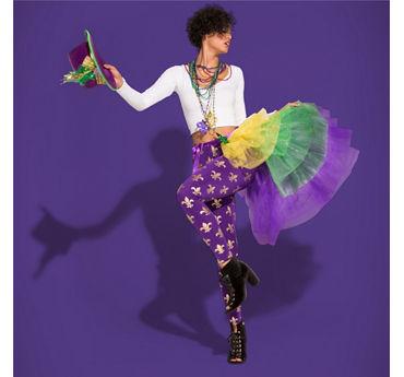 Mardi Gras Bustle Outfit Idea