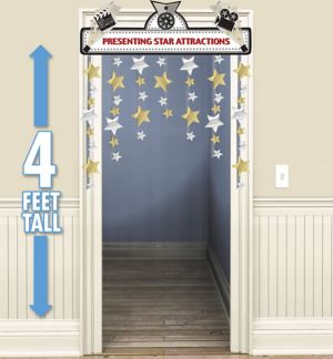 Hollywood Stars Doorway Curtain