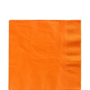 Orange Lunch Napkins 50ct