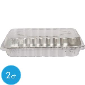 Aluminum Cake Pans with Lids 2ct