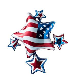 Patriotic Star Cluster Balloon