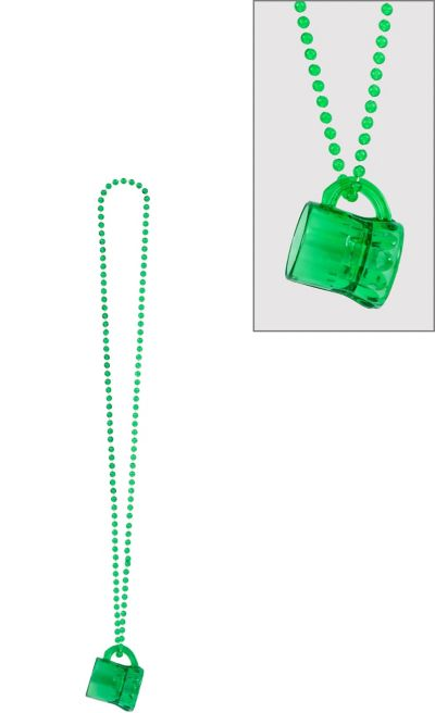 St. Patrick's Day Beer Mug Bead Necklace