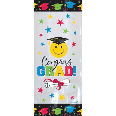 Smiley Face Graduation Treat Bags 20ct