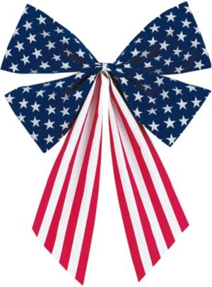 Medium Patriotic American Flag Bow
