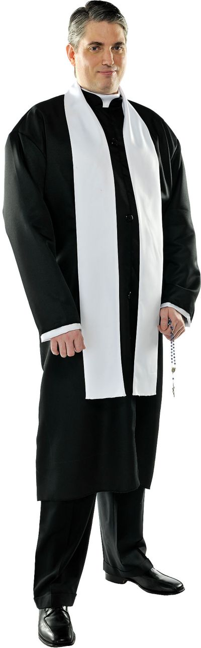 Adult Priest Costume Plus Size