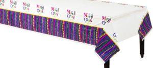 Mardi Gras Celebration Plastic Table Cover