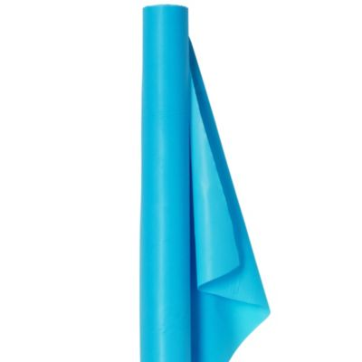Caribbean Blue Plastic Table Cover Roll
