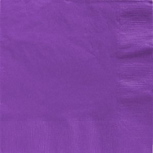 Purple Dinner Napkins 20ct