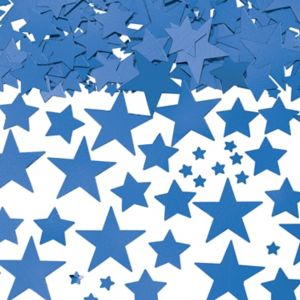Metallic Blue Star Confetti