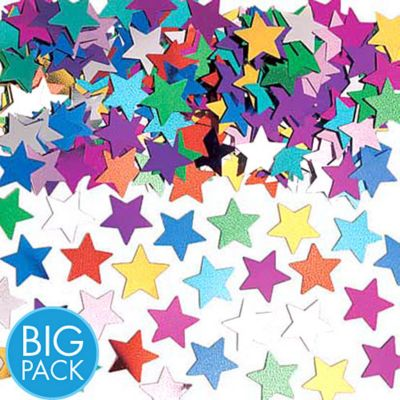 Metallic Multicolor Star Confetti