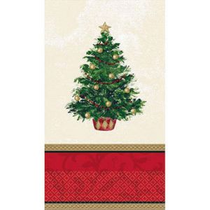Classic Christmas Tree Guest Towels 16ct