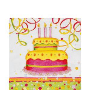 Birthday Cake Lunch Napkins 20ct