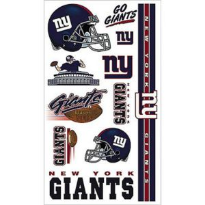 New York Giants Tattoos 10ct