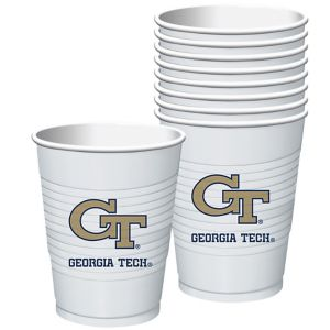Georgia Tech Yellow Jackets Plastic Cups 8ct