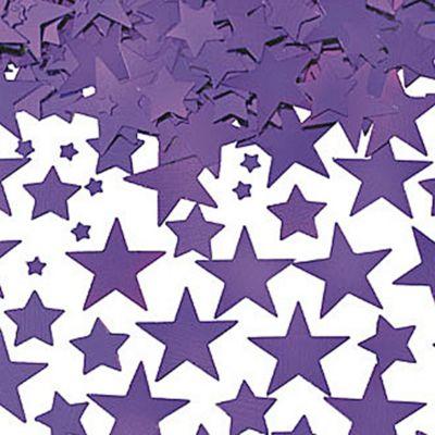 Metallic Purple Star Confetti