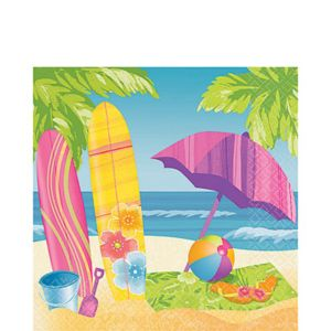 Surf's Up Lunch Napkins 16ct