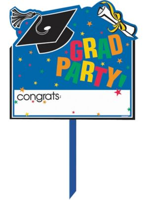 Personalized Congrats Grad Graduation Yard Sign