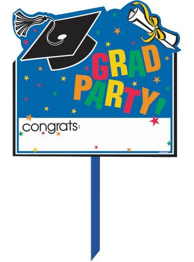 Personalized Congrats Grad Graduation Yard Sign