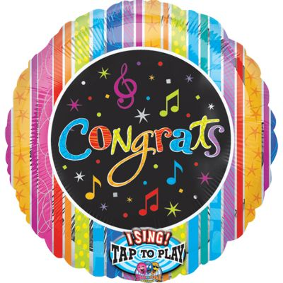 Singing Confetti Congrats Balloon