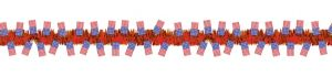 Red Patriotic American Flag Tinsel Garland