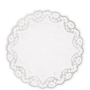 White Round Paper Doilies 8ct