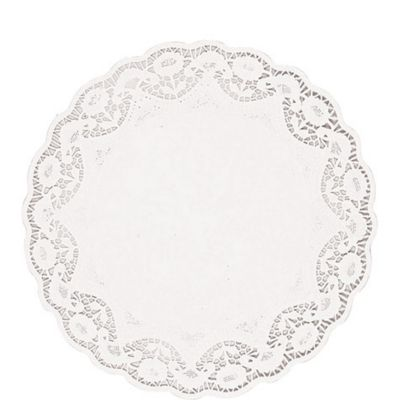White Round Doilies 8ct