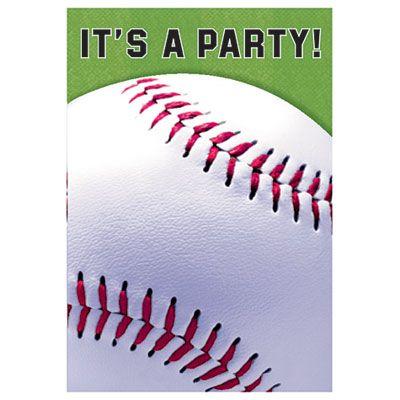 Baseball Fan Invitations 8ct