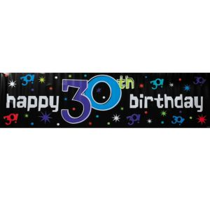 The Party Continues 30th Birthday Banner