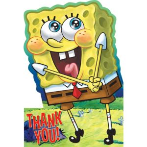 SpongeBob Thank You Notes 8ct