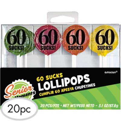 60 Sucks Birthday Lollipops 25ct