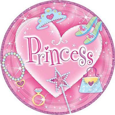 Princess Prismatic Lunch Plates 8ct