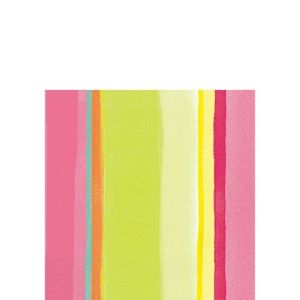 Pink Sunny Stripe Beverage Napkins 16ct