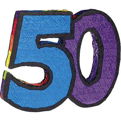 Number 50 Pinata