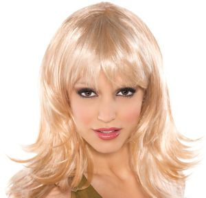 Flirty Feathered Blonde Wig