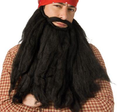 Long Black Pirate Beard