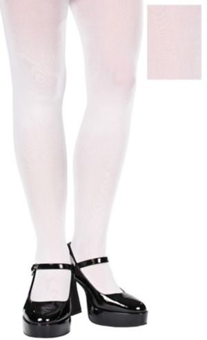 Adult White Seamless Tights Plus Size