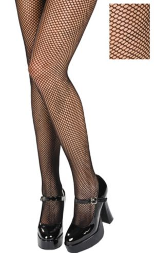 Adult Black Fishnet Pantyhose