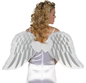White Marabou Angel Wings