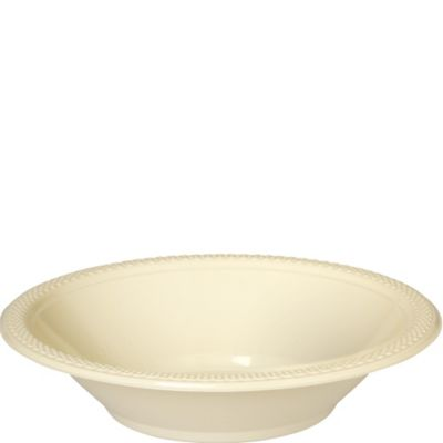 Vanilla Plastic Bowls 20ct