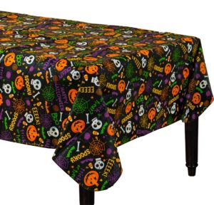 Gruesome Group Flannel-Backed Vinyl Table Cover