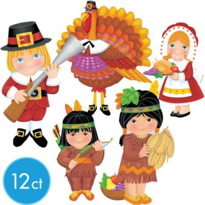 Thanksgiving Season Cutouts 12ct
