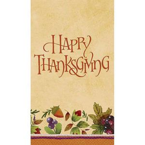 Thanksgiving Medley Guest Towels 16ct