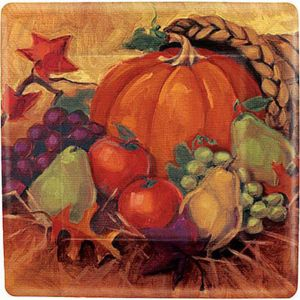 Harvest Still Life Square Dinner Plates 8ct