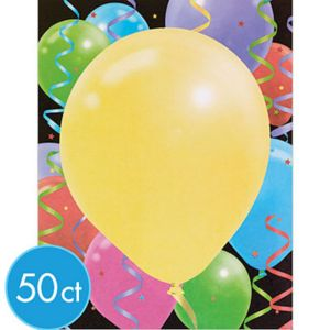 Big Balloon Printable Invitations 50ct