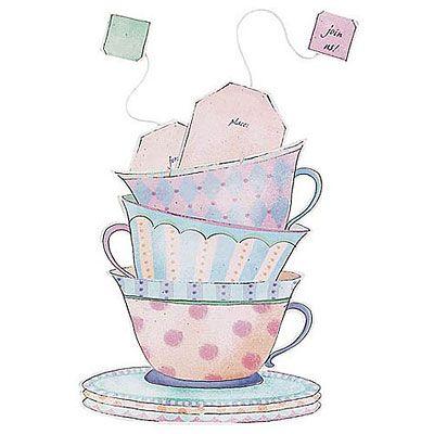 Tea Cup Jumbo Invitations 8ct