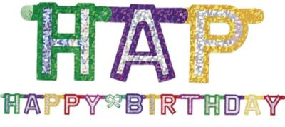 Prismatic Happy Birthday Banner