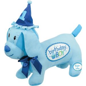 Blue Sweet Little Cupcake Birthday Autograph Dog
