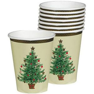 Victorian Christmas Tree Cups 8ct