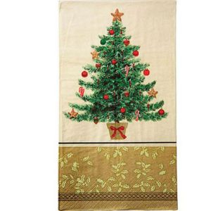 Victorian Christmas Tree Guest Towels 16ct