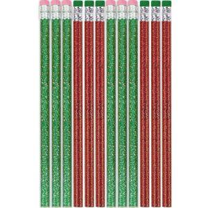Red and Green Pencils 12ct